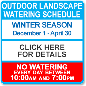 Winter Watering Regulations