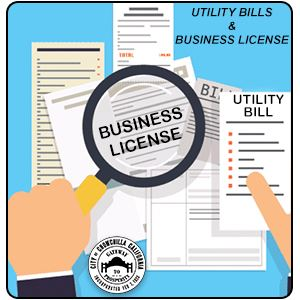 UTLITY BILL AND BUSINESS LICENSE BUTTON