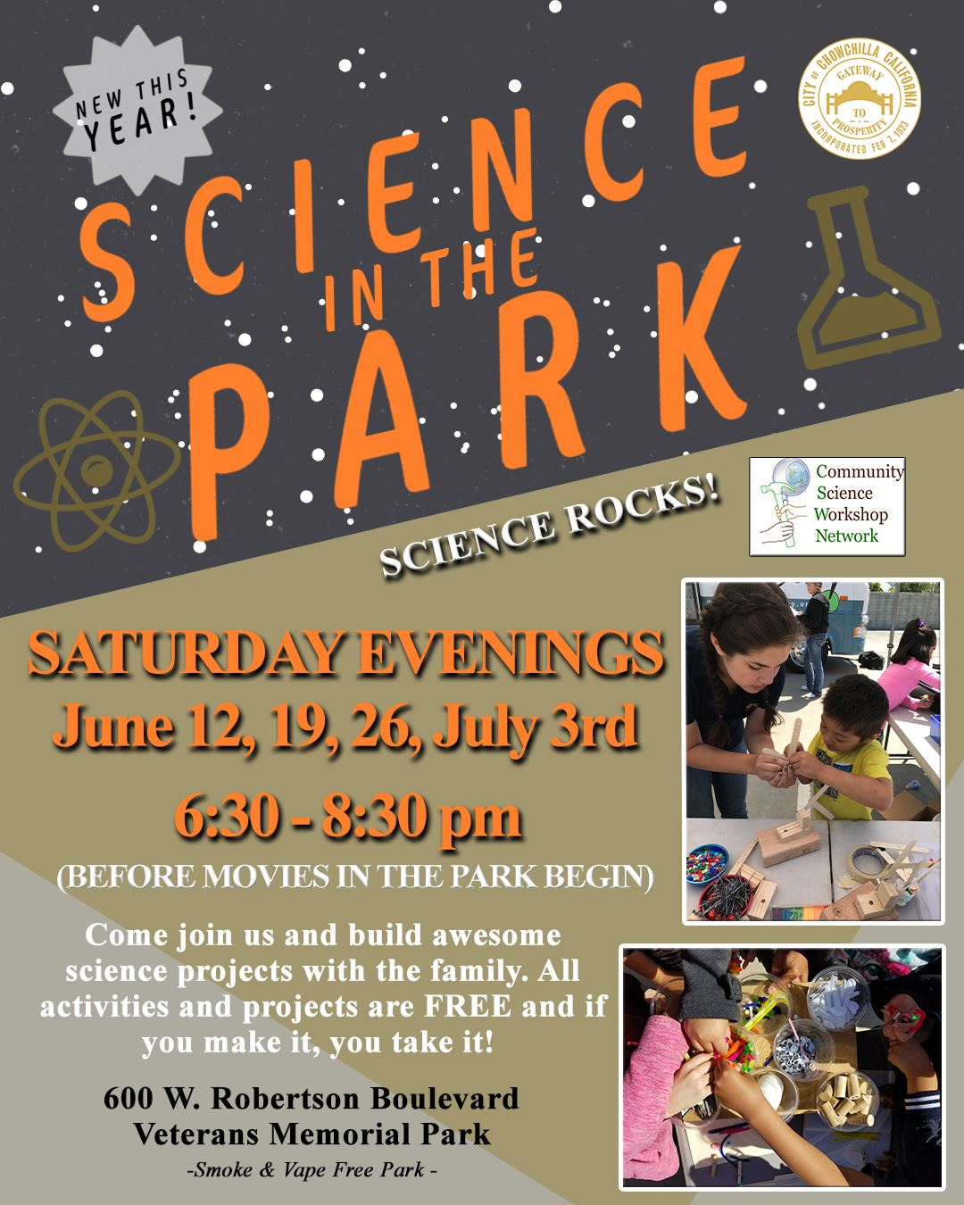 Science in the Park Flyer