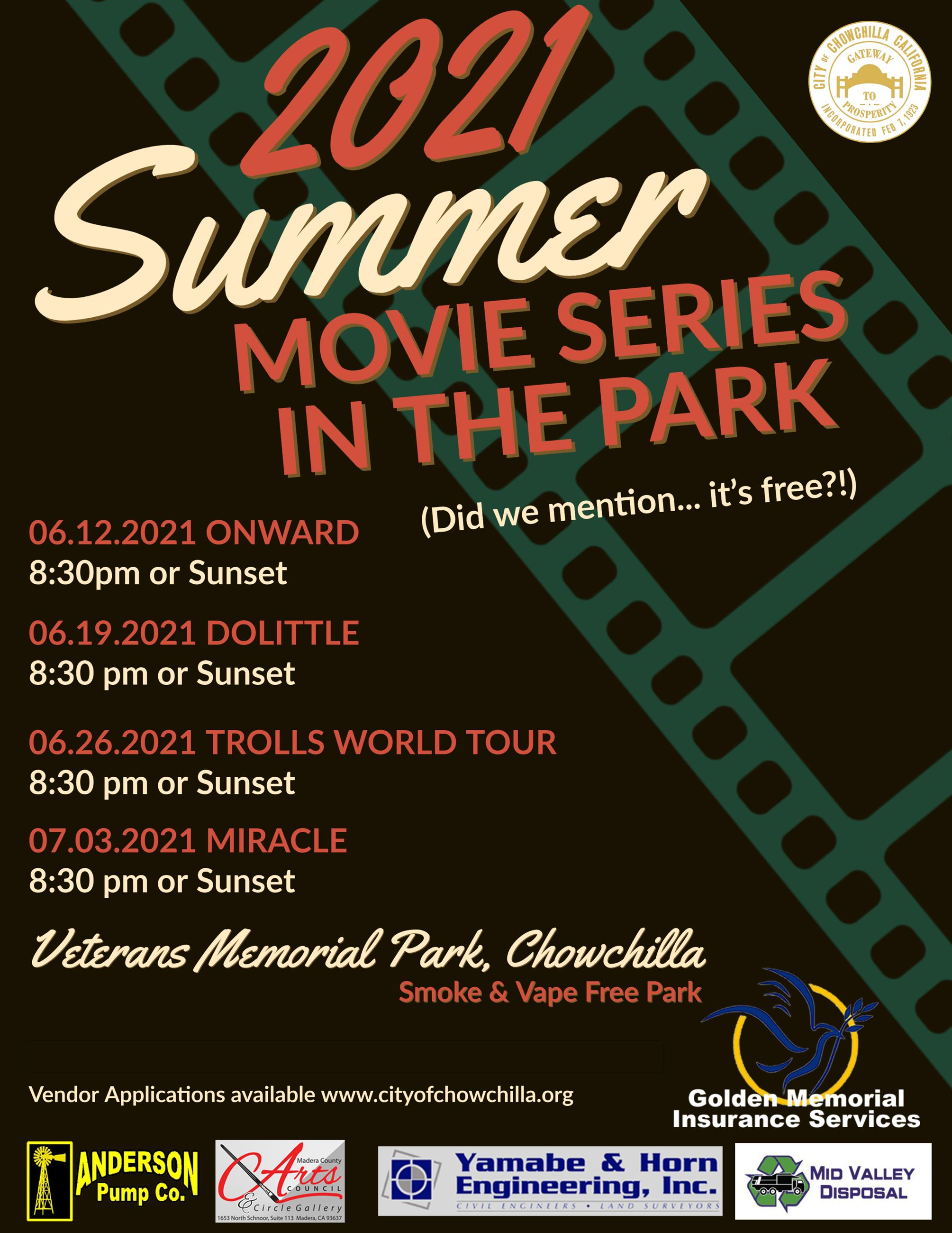 Summer Movie Series Flyer